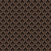 Art deco vector geometric pattern in brown color. Seamless texture for web, print, wallpaper, Christmas gift wrapping, home decor, winter fashion, wedding invitation background, textile design poster