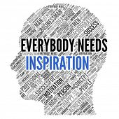 "Motivation quote | ""Everybody needs inspiration"" poster"