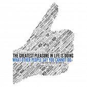 "Motivation quote | ""The greatest pleasure in life is doing what other people say you cannot do"" poster"