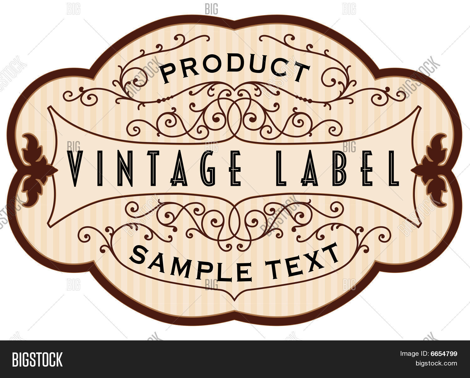 Vintage Label  Large Label Template