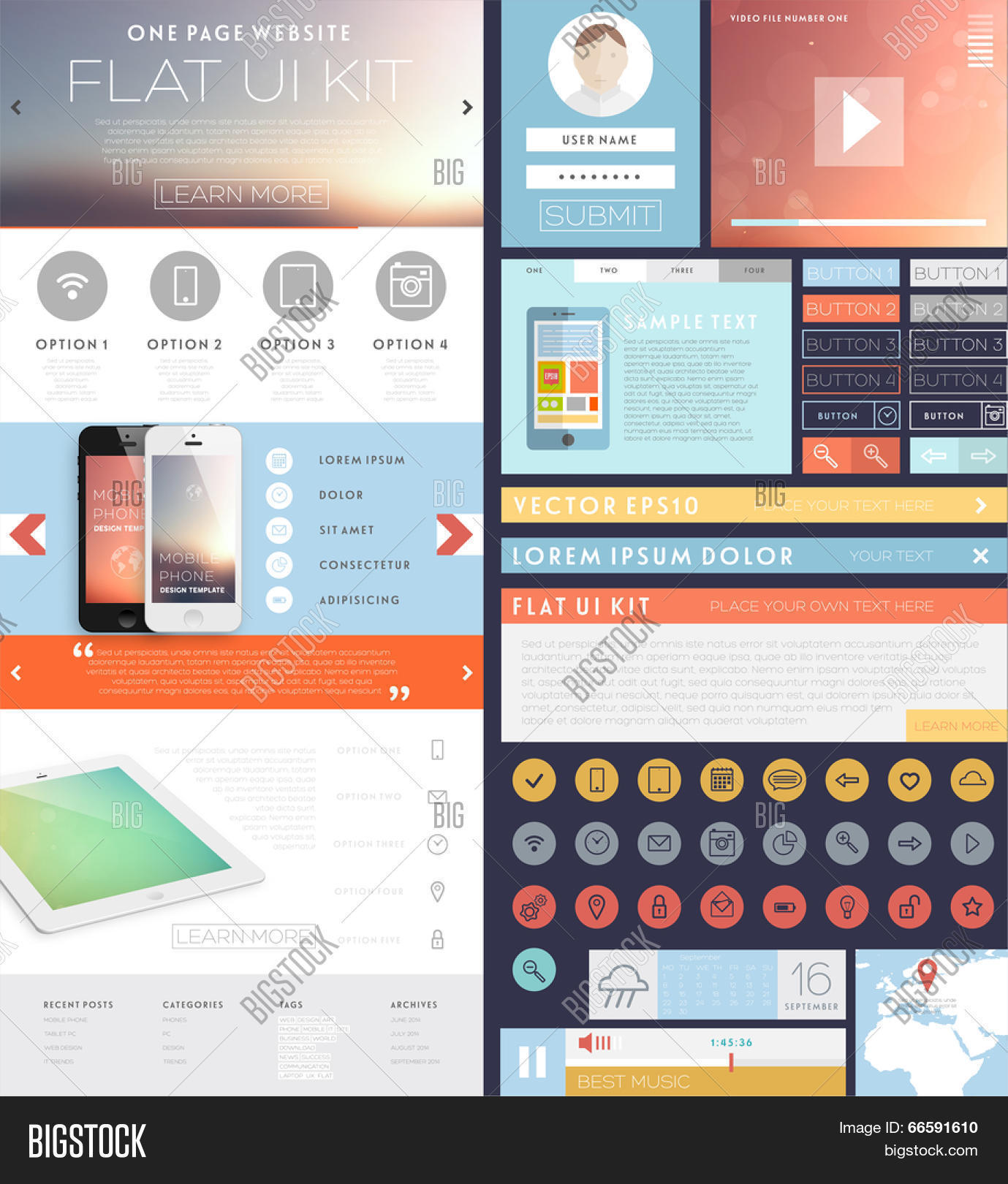 One Page Website Vector & Photo (Free Trial) | Bigstock
