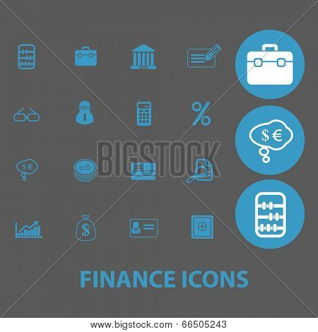 finance, money, bank, accounting icons set, vector
