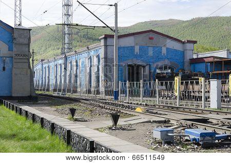 The locomotive depot. st.Slyudyanka, Irkutsk region