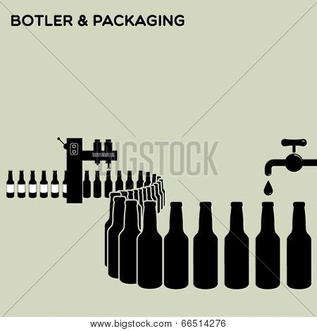 Bottler and packaging of bottles - water, beer, alcoholic & non-alcoholic drinks, oil, wine etc.