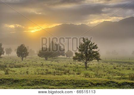 Sun Peeping Through The Clouds