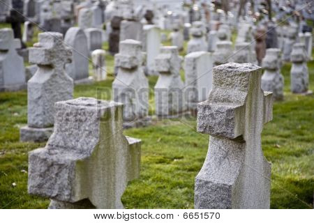 Crosses at Cemetery
