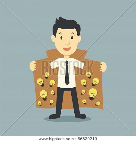 Businessman Showing Idea