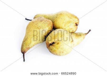 Three Ripe Fresh Pears