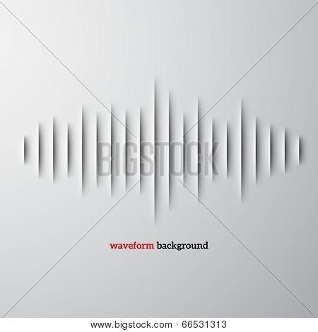 Paper sound waveform with shadow