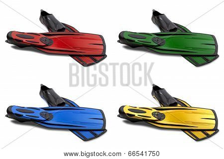 Flippers For Diving
