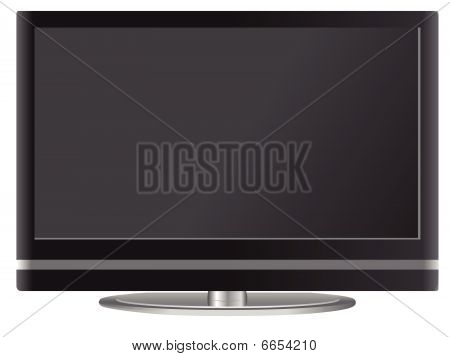 Flat screen television with stand vector illustration