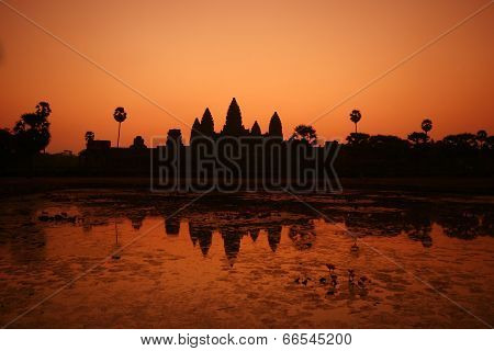 Sunrise At Ankor Wat
