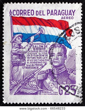 Postage Stamp Paraguay 1978 Jose Felix Estigarribia, President