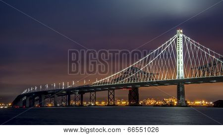 Oakland Bay Bridge at Sunset