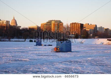 Ice Fishing In Madison
