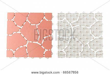 Anti slip plastic tiles