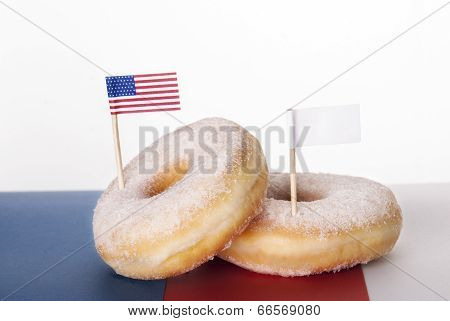 Donuts With Flags