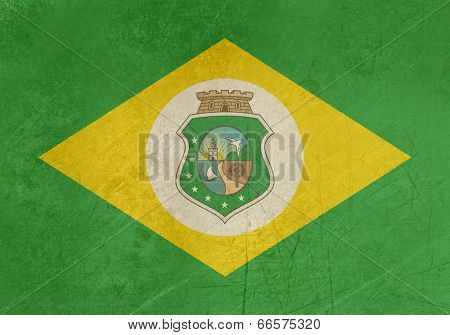 Grunge state flag of Ceara in Brazil