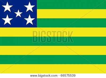 State flag of Goias in Brazil