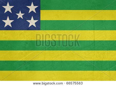 Grunge state flag of Goias in Brazil.