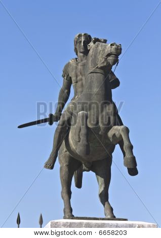Statue of Alexander the Great at Thessaloniki in Greece poster