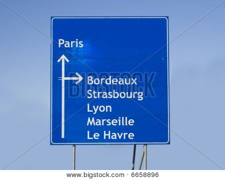 Roadsign France