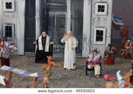 Miniature With Pope Bergoglio