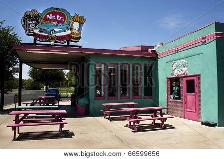 Famous Mr. D'z Route 66 Diner in Kingman Arizona