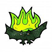 cartoon spooky vampire bat poster
