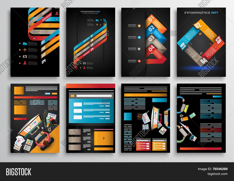 Technology Brochure Template | Set Flyer Design Web Vector Photo Free Trial Bigstock