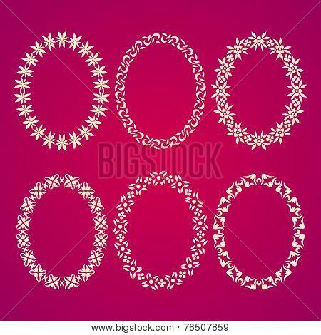 Set Of 6 Oval Frames