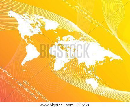 노란색 세계 지도