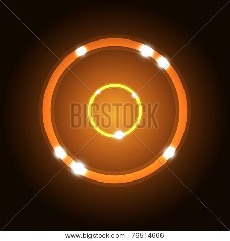 Abstract Background With Orange Circle