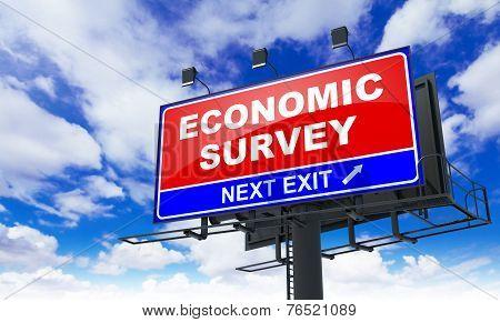 Economic Survey on Red Billboard.