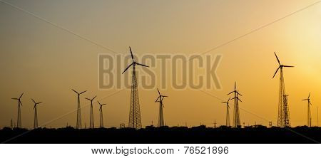 Windmills In Desert