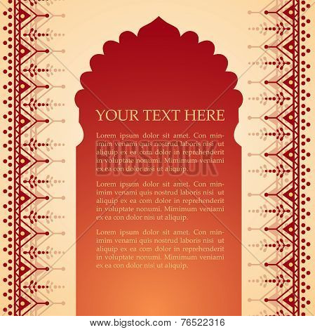 Indian henna temple background