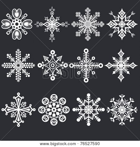 Christmas Chalkboard Snowflakes