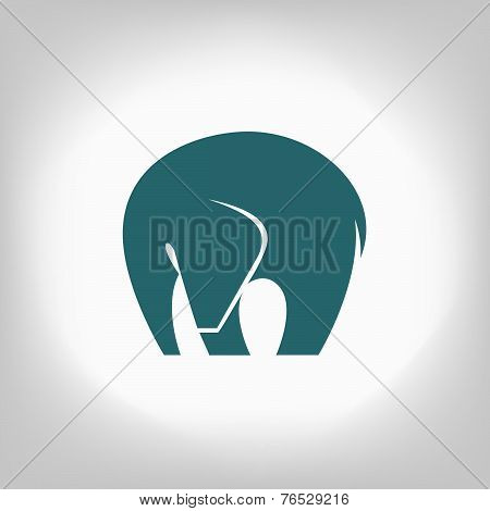emblem of an elephant on a light background
