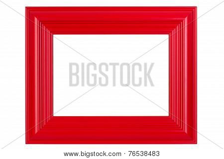 Red Varnished Picture Frame