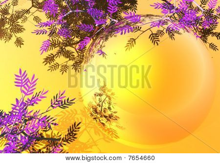 Gold background with branches