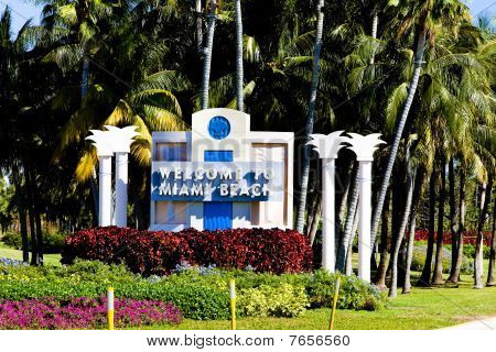 Miami Beach in south Florida in USA