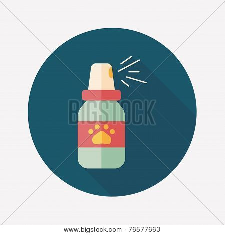 Pet Flea Sprays Flat Icon Wtih Long Shadow, Eps10