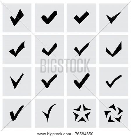 Vector confirm icon set