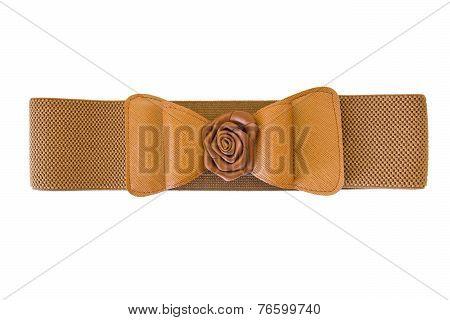 lady's fashion belt isolated on white background poster