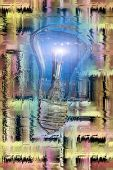 abstract scene with lamp on the background poster