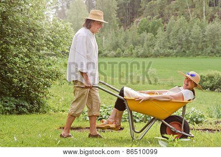 Seniors Having Fun Outdoors