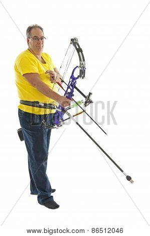 Man Standing With Bow And Arrow