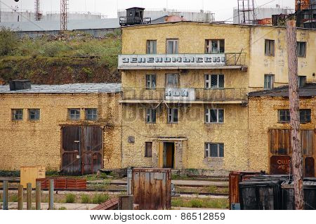 Old Office Building At River Port Industrial Area