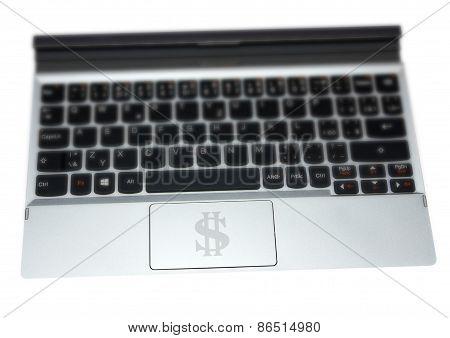 Tablet Keyboard Dollar
