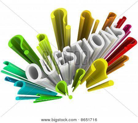 Question Marks - Colorful 3D Symbols
